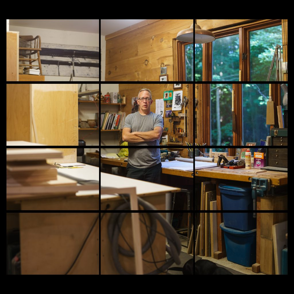 white male in woodworking shop