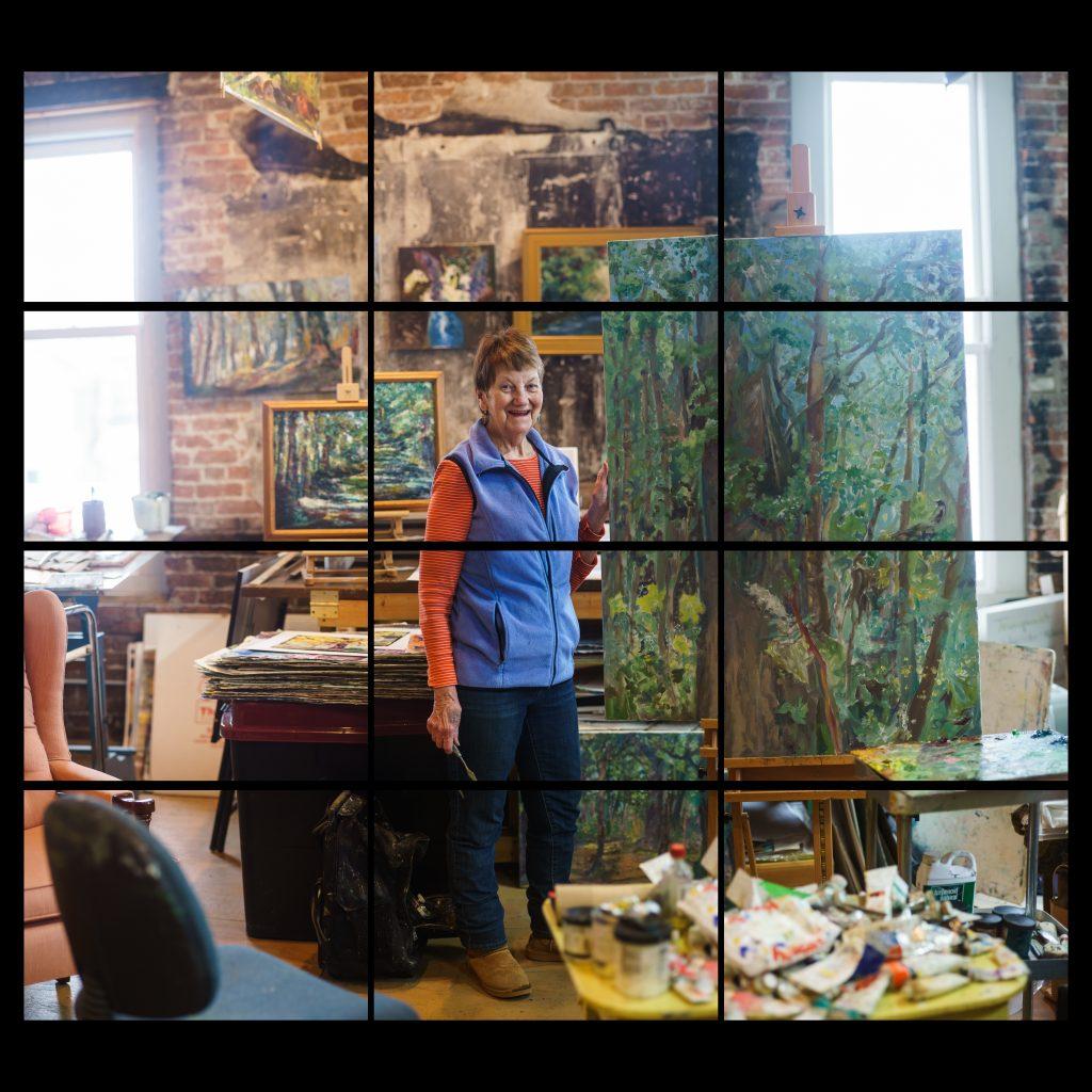 woman painter in her studio