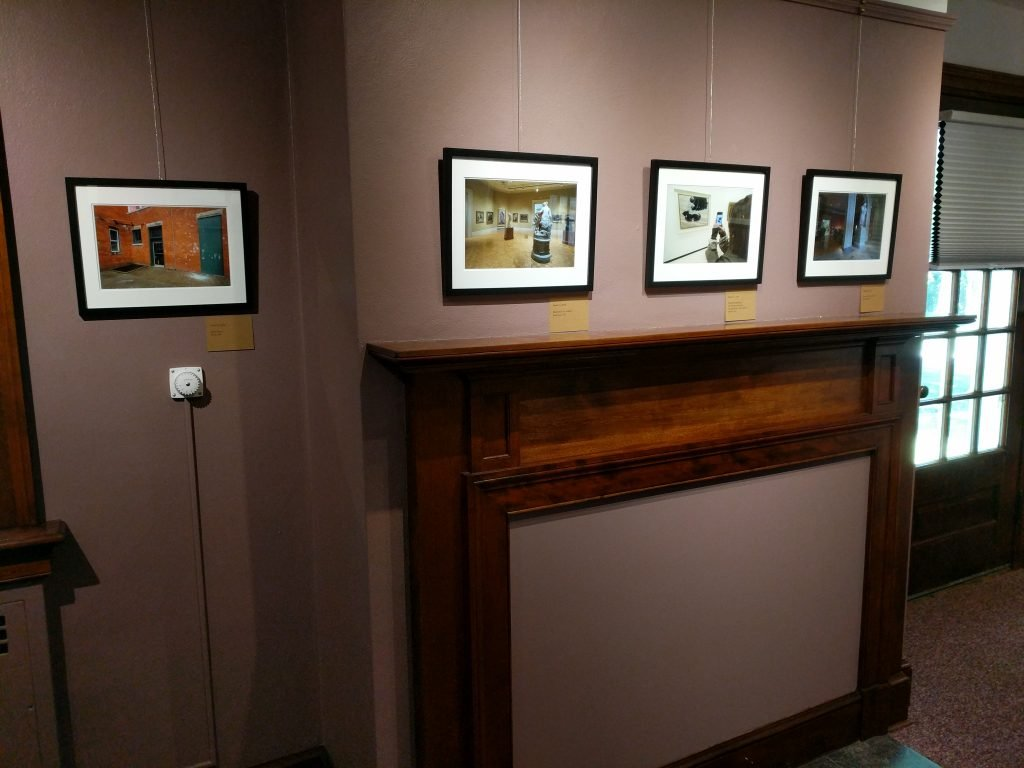 wall of photographs